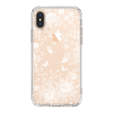 White Rose Garden Phone Case - iPhone Xs Max Case