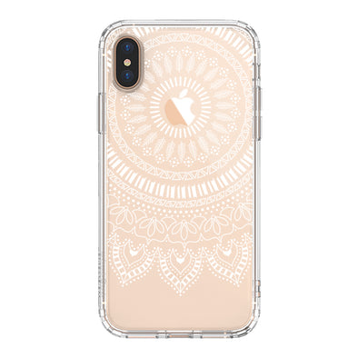 White Mandala Phone Case - iPhone Xs Max Case