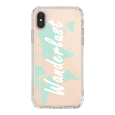 Wanderlust World Map Phone Case - iPhone Xs Max Case