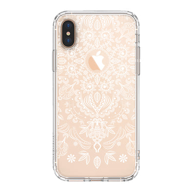 Henna Flower Phone Case - iPhone Xs Max Case