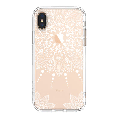 White Henna Garden Phone Case - iPhone Xs Max Case