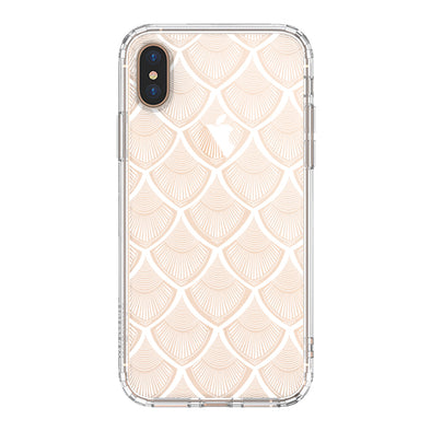 White Bohemian Henna Mandala Phone Case - iPhone Xs Max Case