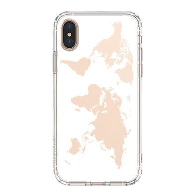 White Map Phone Case - iPhone Xs Max Case