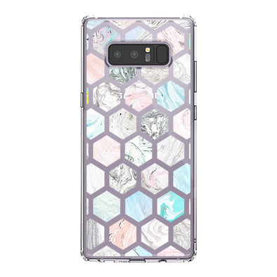 Fashion Rhombus Marble Phone Case -Samsung Galaxy Note 8 Case