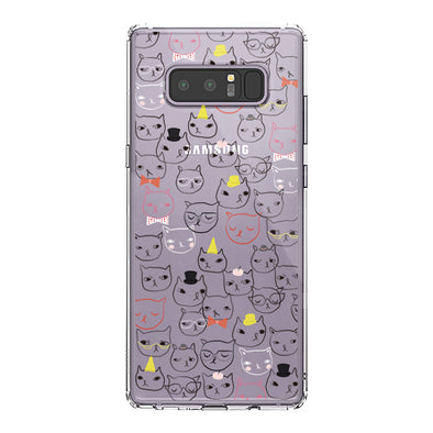 Doodle Cat Phone Case -Samsung Galaxy Note 8 Case