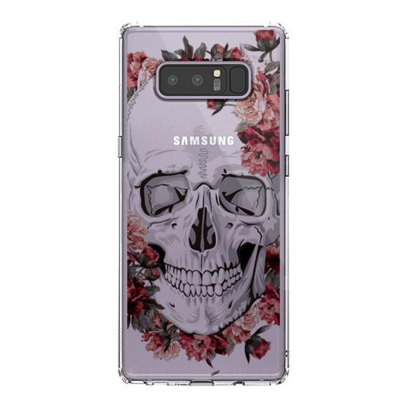 Cool Floral Skull Phone Case - Samsung Galaxy Note 8 Case