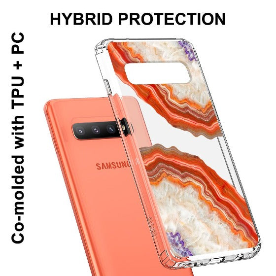 Red Agate Phone Case - Samsung Galaxy S10 Plus Case