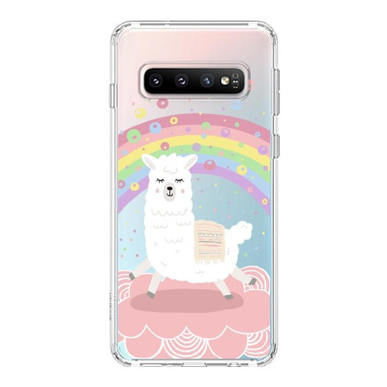 Rainbow Alpaca Phone Case - Samsung Galaxy S10 Plus Case