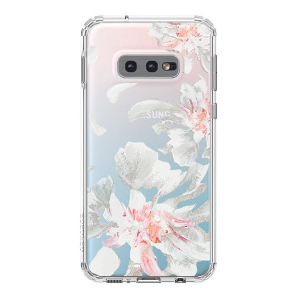 White Petal Phone Case - Samsung Galaxy S10e Case