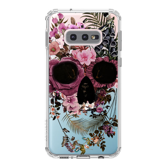 Cool Flower Skull Phone Case - Samsung Galaxy S10e Case