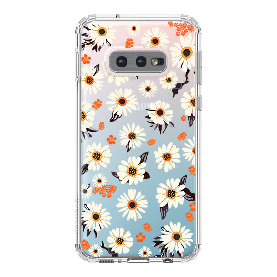 Daisy Floral Phone Case - Samsung Galaxy S10e Case