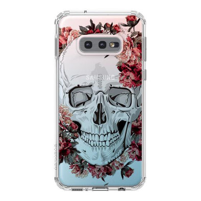 Cool Floral Skull Phone Case - Samsung Galaxy S10e Case