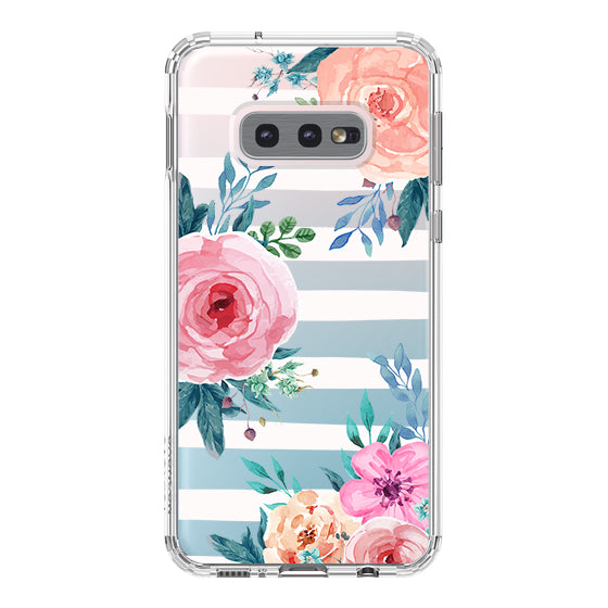 Girls Blossom Stripes Floral Flower Phone Case - Samsung Galaxy S10e Case