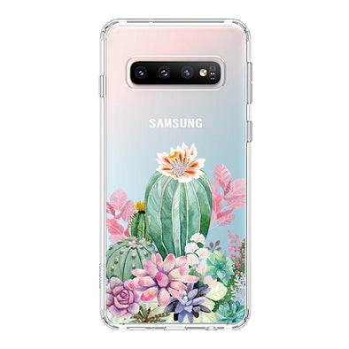 Tropical Cactus Succulents Phone Case - Samsung Galaxy S10 Case