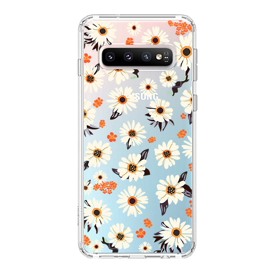 Daisy Floral Phone Case - Samsung Galaxy S10 Plus Case