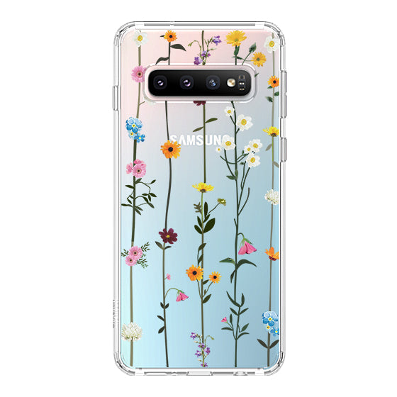Wild Flowers Floral Phone Case - Samsung Galaxy S10 Plus Case