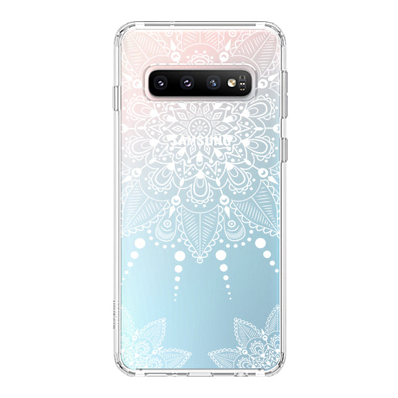 White Henna Garden Phone Case - Samsung Galaxy S10 Plus Case