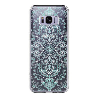 Aqua and White Mandala Phone Case - Samsung Galaxy S8 Case