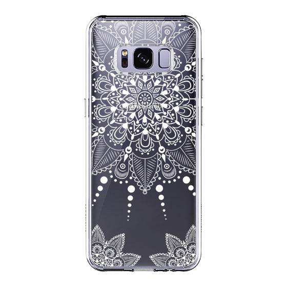 White Henna Garden Phone Case - Samsung Galaxy S8 Case