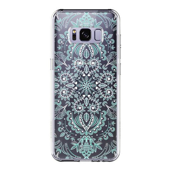 Aqua and White Mandala Phone Case - Samsung Galaxy S8 Plus Case