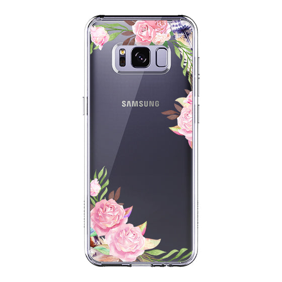 Feathers and Roses Phone Case -Samsung Galaxy S8 Plus Case