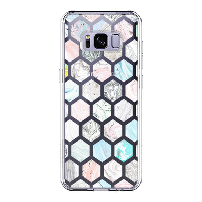 Fashion Rhombus Marble Phone Case -Samsung Galaxy S8 Plus Case