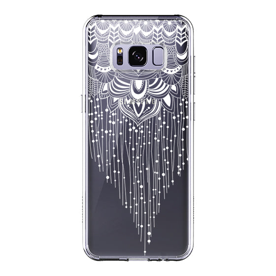 Floral Tassel Phone Case - Samsung Galaxy S8 Plus Case