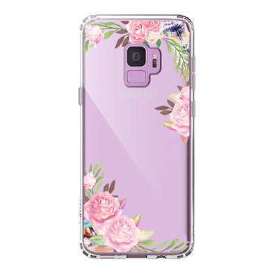 Feathers and Roses Phone Case - Samsung Galaxy S9 Case