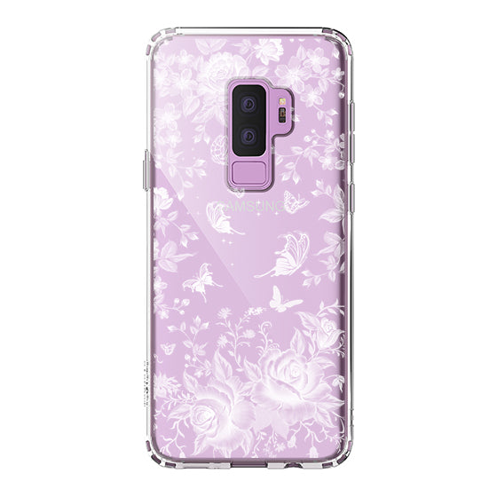 White Rose Garden Phone Case - Samsung Galaxy S9 Plus Case