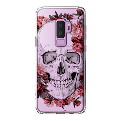 Cool Floral Skull Phone Case - Samsung Galaxy S9 Plus Case