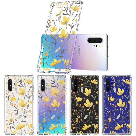 Floral Flower Phone Case - Samsung Galaxy Note 10 Plus Case