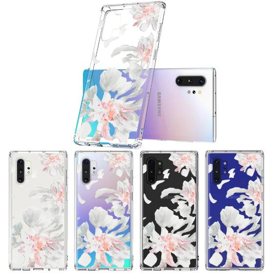 White Petal Phone Case - Samsung Galaxy Note 10 Plus Case