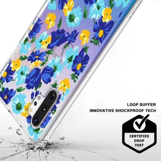Bluish Flowers Floral Phone Case - Samsung Galaxy Note 10 Plus 5G Case