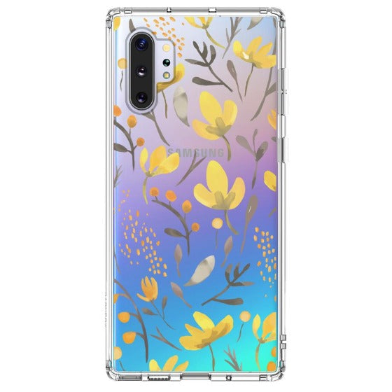 Floral Flower Phone Case - Samsung Galaxy Note 10 Plus 5G Case