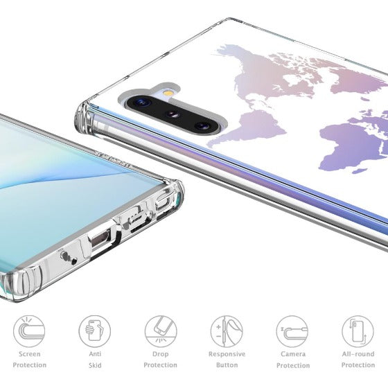 White Map Phone Case - Samsung Galaxy Note 10 Case