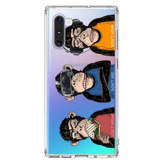 Don't Speak, Don't See,Don't Hear Phone Case - Samsung Galaxy Note 10 Case