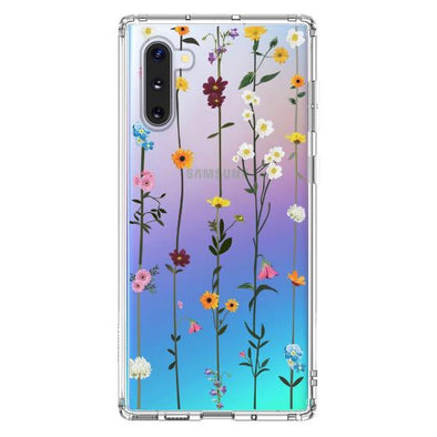 Wild Flowers Floral Phone Case - Samsung Galaxy Note 10 Case
