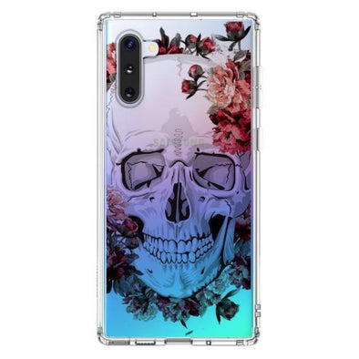Cool Floral Skull Phone Case - Samsung Galaxy Note 10 Case