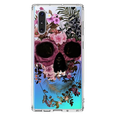 Cool Flower Skull Phone Case - Samsung Galaxy Note 10 Case