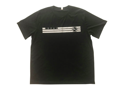 IDEAL STRIPES LOGO BLACK SHIRT