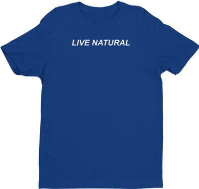 IDEAL LIVE NATURAL ROYAL BLUE MENS FIT SHIRT