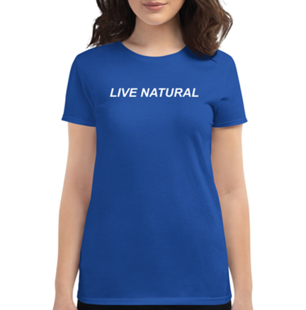 IDEAL LIVE NATURAL ROYAL BLUE WOMAN FIT SHIRT