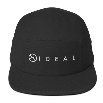 IDEAL LOGO BLACK 5 PANEL CAP