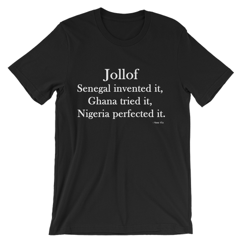 Jollof Wars: Nigeria Short Sleeve T-Shirt