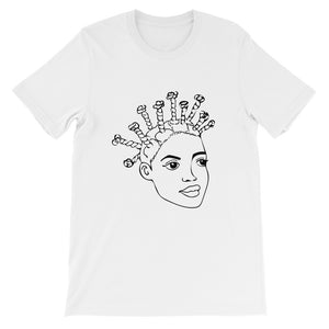 Hair Threading Short-Sleeve Unisex T-Shirt