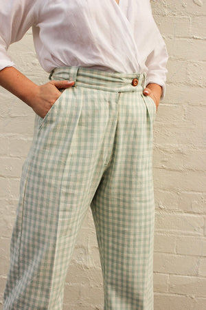 Organic Cotton Check Claude Pant
