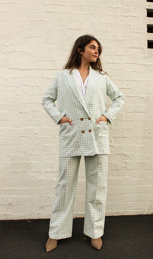 Organic Cotton Check Janet Jacket