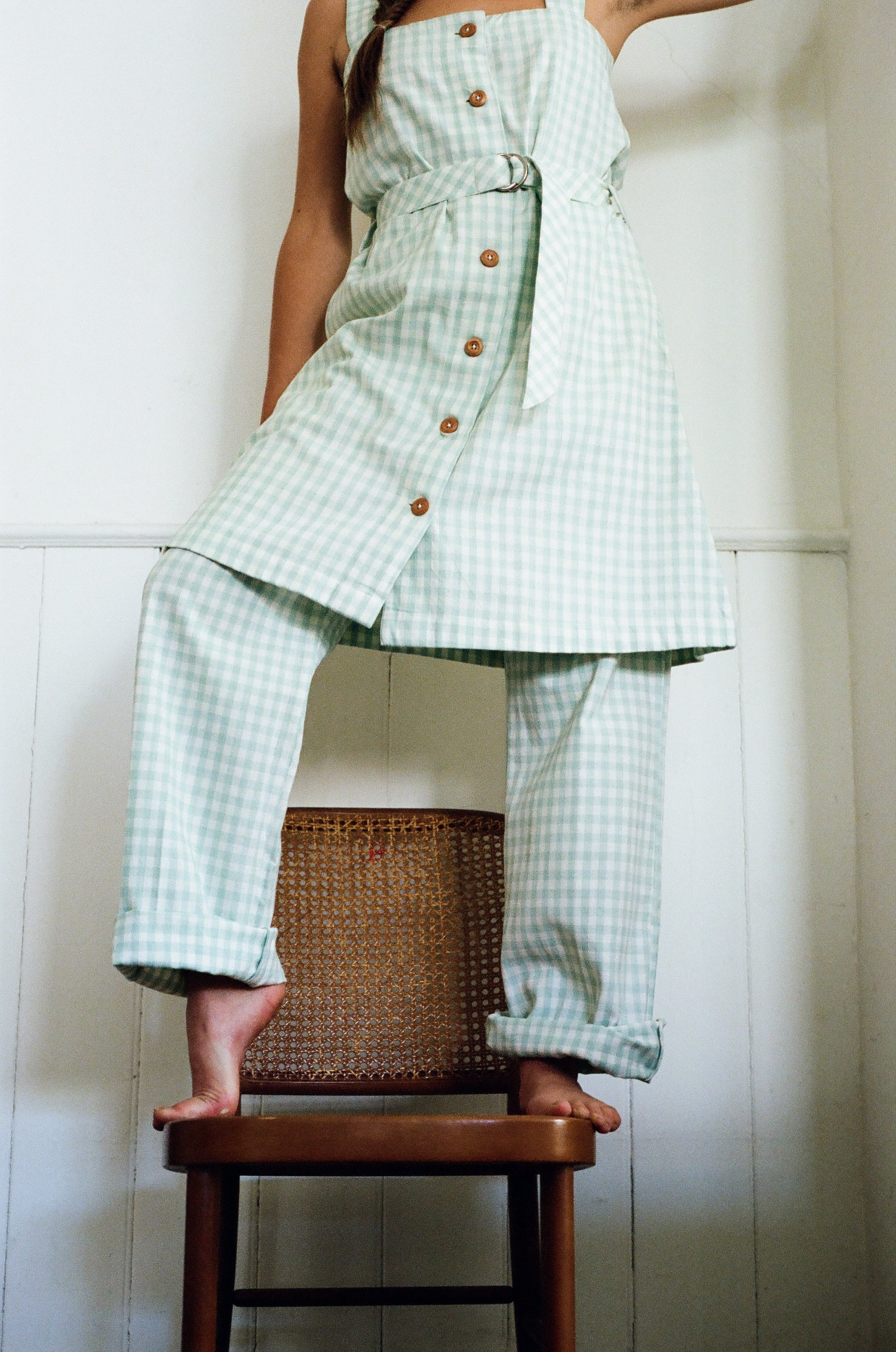 Organic Cotton Check Owen Dress