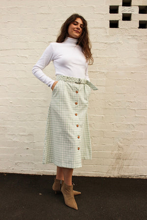 Organic Cotton Check Joyce Skirt