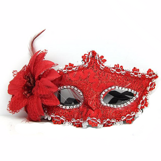 Sexy Lace Feather Masquerade Mask